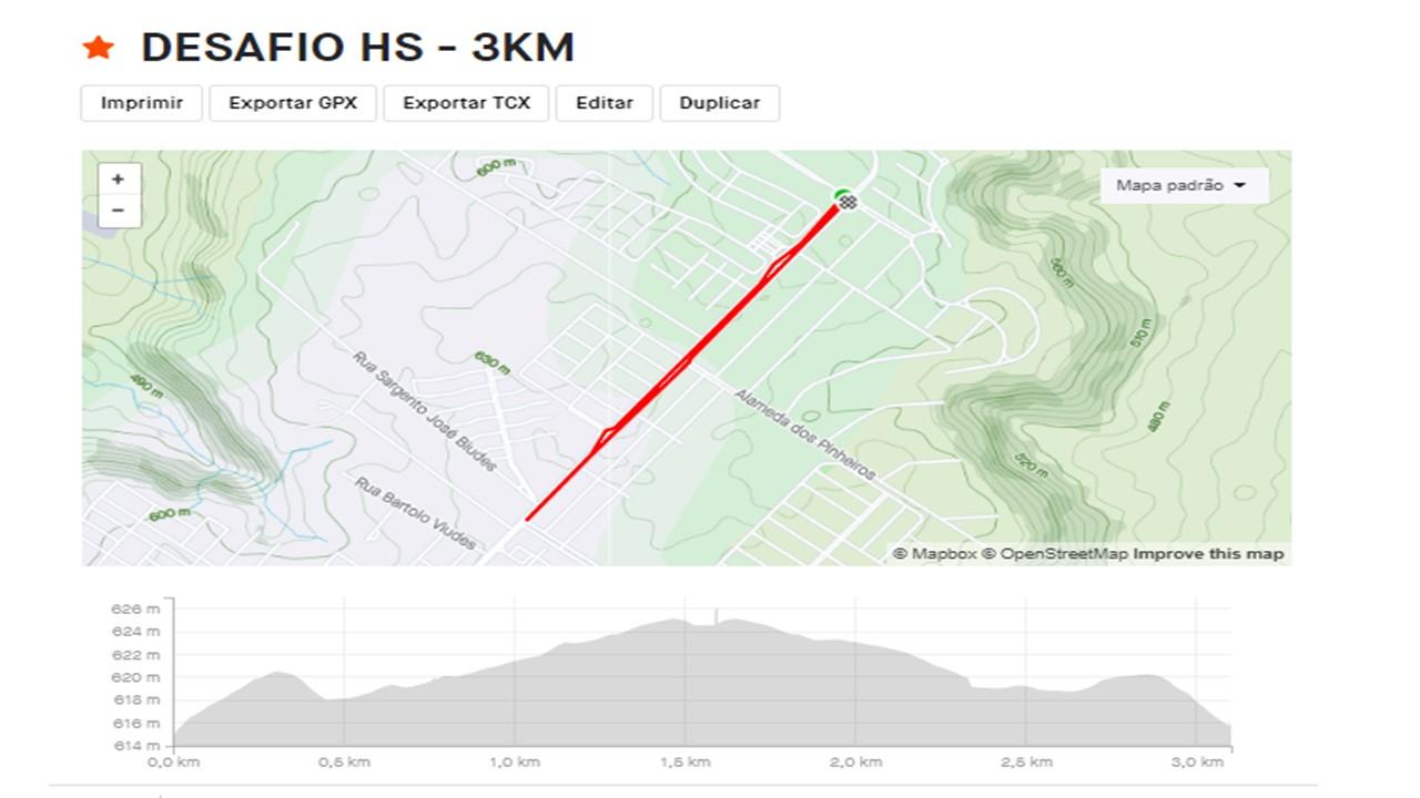 Percurso 3KM